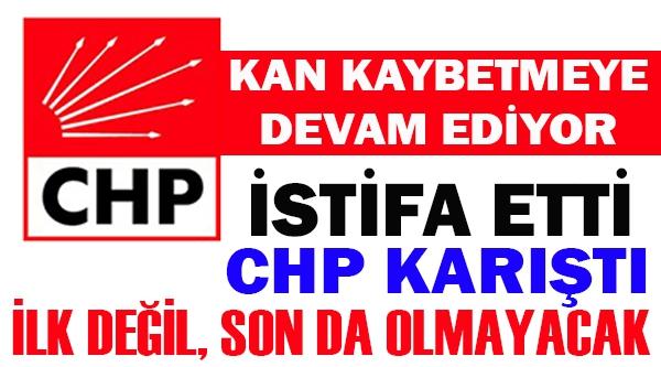 CHP'Lİ BELEDİYE MECLİS ÜYESİ İSTİFASINI SUNDU