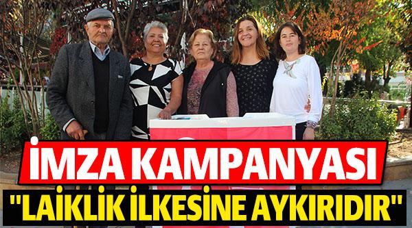 CHP'Lİ KADINLAR İMZA KAMPANYASI BAŞLATTI
