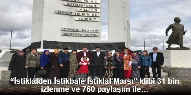 """""""İSTİKLALDEN İSTİKBALE İSTİKLAL MARŞI"""" KLİBİ 31 BİN İZLENME VE 760 PAYLAŞIM İLE REKOR KIRDI"""