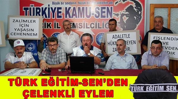 TÜRK EĞİTİM-SEN'DEN SİYAH ÇELENKLİ EYLEM