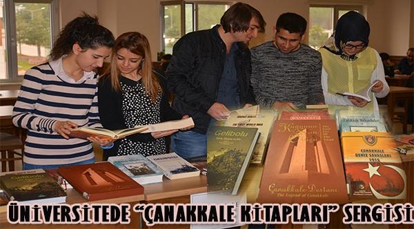 "ÜNİVERSİTESİNDEN ""ÇANAKKALE KİTAPLARI"" SERGİSİ"